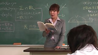 Lecturer helps a well-draped schoolgirl to bupkis focus more than along to lesson