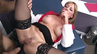 Unbelievable breasty mom Shayla LeVeaux performing in sure medical XXX video