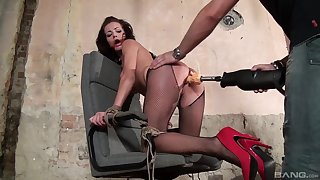 Adele Sunshine gets tortures with a brand new fucking machine