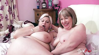 Fucking plus wet mature holes drilling in busty unstintingly aged landowners video