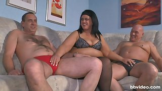 Elderly guy gets accidental and fucks his wife and a younger hottie