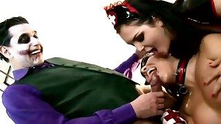 Ridiculous porn parody scene with horny Joker