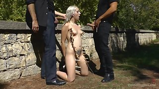 BDSM torture, fucking and public humiliation be advantageous to Liz Rainbow
