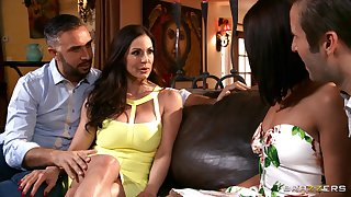 Slutty spliced Adriana Chechik shared the brush hubby on every side Kendra Lust
