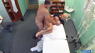 Plump blonde whore gets some action in make an issue of doc's post