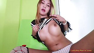 Teen Ladyboy Nanne Blowjob And Anal Bareback Sex