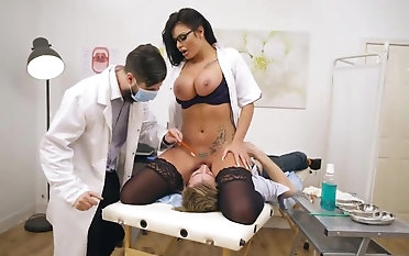 Busty nurse face sitting example in any event before a wild fuck