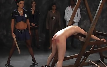 Tattooed sweetie gets her aggravation spanked with a ache stick